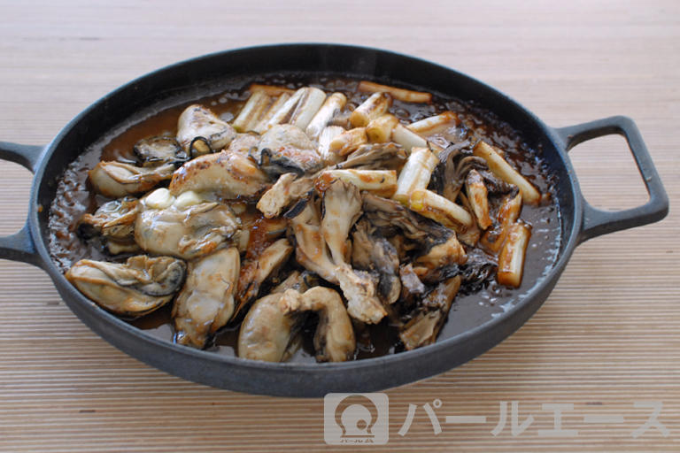 牡蠣とねぎの味噌焼き